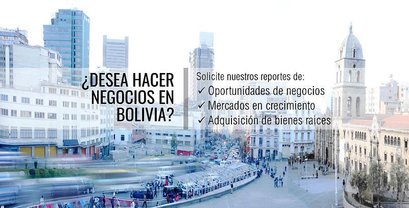 Reportes para hacer negocios en Bolivia